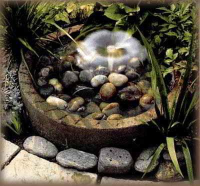 Сделать в саду фонтан своими руками